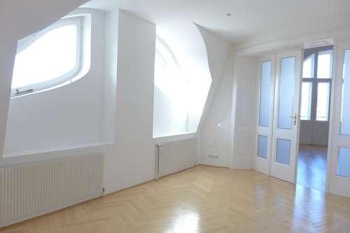 Herrliche Sieben-Zimmer-Dachterrassenwohnung in prachtvollem Altbau - Miete 1190 Wien