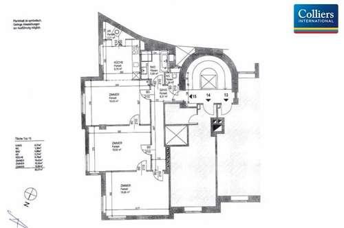 Schwedenplatz: 3-Zimmer-Wohnung, 1010 Wien