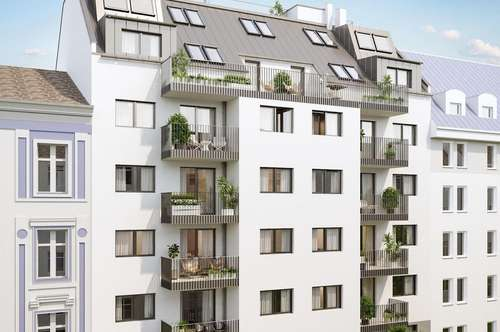 SINGLE HIT ! Durchdachte 2-Zimmer Neubauwohnung mit Balkon (Top 8 ca. 44m² + 4,52 m² Balkon € 215.878,- Netto)
