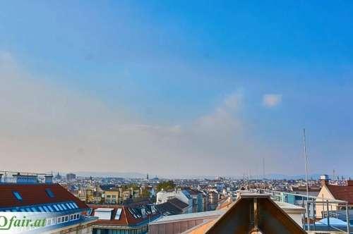 Lichtdurchflutete 3 Zimmer Dachgeschosswohnung mit Blick über die Dächer Wiens ! Nahe zukünftiger U2-Station !