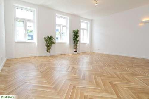 Nähe Arenbergpark - Großzügige Altbaumaisonette mit Loggia u. Hofterrasse - Residieren im stilvollen Gründerzeit Haus (Top 4 - Hoch-/Tiefparterre - 110m²+ Logg. u. Terr. - € 499.000,-)