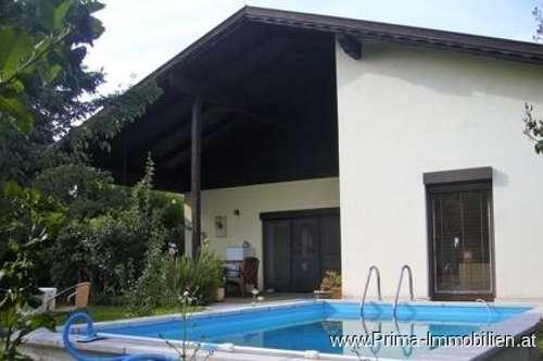 Top Einfamilienhaus mit Pool in absoluter Grün-Ruhelage in Mannersdorf/Leithagebirge