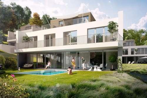 Erstbezug - Moderne Architektenvilla in Hinterbrühl mit Pool - Grünruhelage