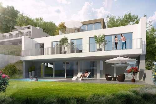 | Architektenvilla mit flexiblem Grundriss Neubau in Hinterbrühl mit Pool - Grünruhelage |