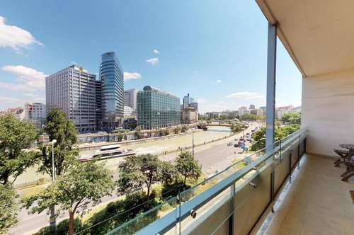Citywohnung mit herrlichem Blick auf den Donaukanal, Dachterrasse - Möblierung optional