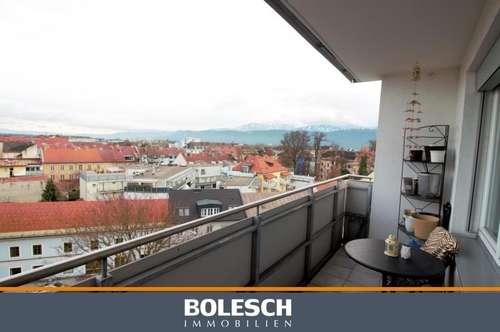 Mitten im Zentrum über den Dächern von Klagenfurt