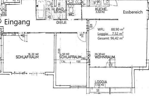 3-Zimmer Wohnung in Schloßpark