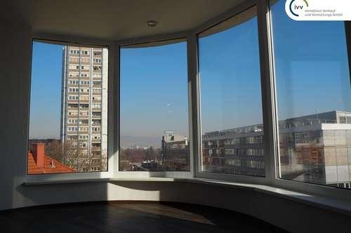 Penthouse-Büro in der Raimundstraße