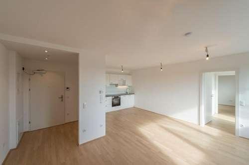 Six in the City: Premium 2-Zimmer Apartment mit Balkon, BESTLAGE direkt beim Haus des Meeres, NEUBAU-ERSTBEZUG, **HOFRUHELAGE**