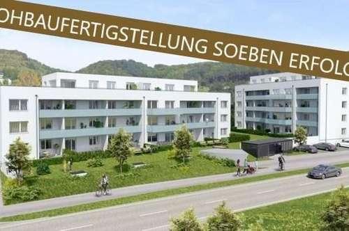 Steyregg: WOHNPARK Steyregg - Hier entsteht IHR Wohntraum (Eigentumswohnungen von ca. 50 m² bis ca. 93 m²) - Rohbaufertigstellung soeben erfolgt!