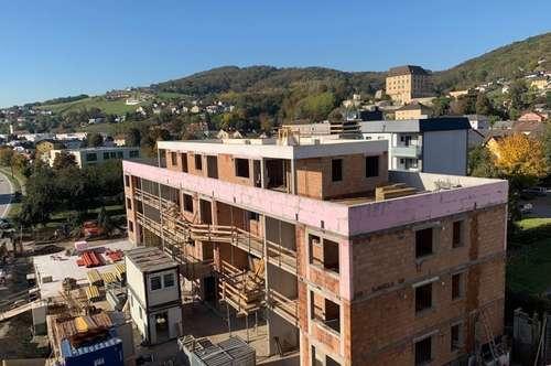Steyregg: GARTENEIGENTUMSWOHNUNG mit ca. 54m² Wohnfläche - IHR NEUBAU-Wohntraum im WOHNPARK STEYREGG - Rohbaufertigstellung soeben erfolgt!