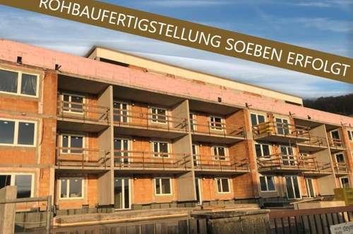 Steyregg: EIGENTUMSWOHNUNG mit ca. 63m² Wohnfläche + X-Large BALKON - IHR NEUBAU-Wohntraum im WOHNPARK Steyregg - Rohbaufertigstellung soeben erfolgt!