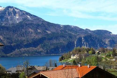 Grundstück in einzigartiger Lage mit Blick in die Berge und auf den Wolfgangsee