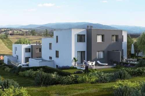 Leben am Land. Doppelhaus mit schöner Terrasse und Vollkeller, sowie schönem Garten. Grün so weit das Auge reicht.