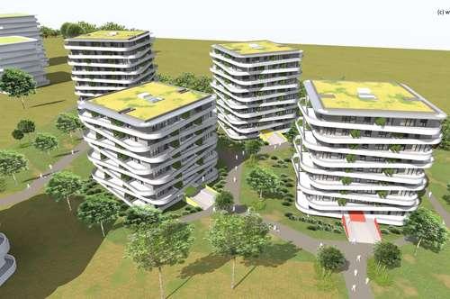 Mit Blick über Graz! 4-Zimmer Apartment mit gigantischer Terrasse! Provisionsfreier Neubau!