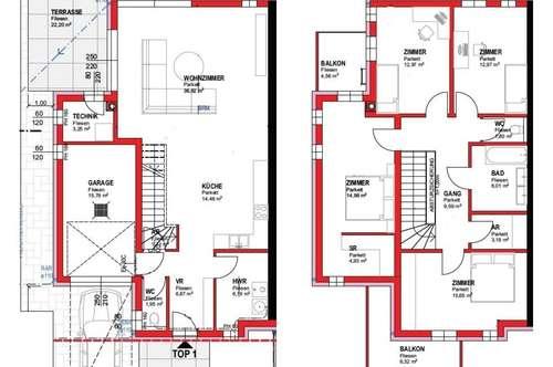169m² Wnfl., südseitiger Garten, Garage. Nähe S1, A3 und S4.