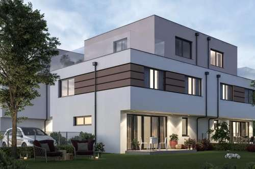 Erstbezug-Doppelhaushälften in absoluter Ruhelage nähe U2! Seestadt Aspern! Terrassen und Gärten!