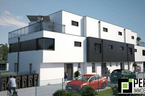 Designer Reihenhäuser auf Eigengrund im 22.Bezirk - Rarität!! Tolle Ruhelage - nur 2.925 Euro / m² !!