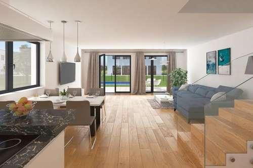 Haus 1 - provisionsfreie DHH mit Luft/Wasser Wärmepumpe & FBH! Terrasse/Garten!