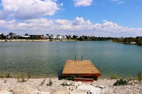 Baugrundstück direkt am See! Nur ca. 35 Autominuten von Wiengrenze entfernt! Mit eigenem Seezugang und großer Gartenfläche!