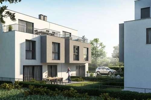 Doppelhaushälfte in absoluter Ruhelage nähe U2! Seestadt Aspern! Terrassen und Gärten!