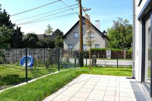 REIHENHAUS bei der ALTEN DONAU U1! ERSTBEZUG! 4 Zimmer + 2 Terrasse + 1 Garten! möblierte Küche! U1! UNO-CITY!