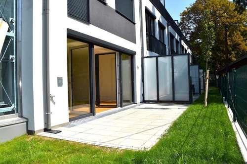 HOCHWERTIGES REIHENHAUS mit 4 Zimmer + 2 Terrassen + Garten! möblierte Küche! U1! an der ALTEN DONAU U1! UNO-CITY!