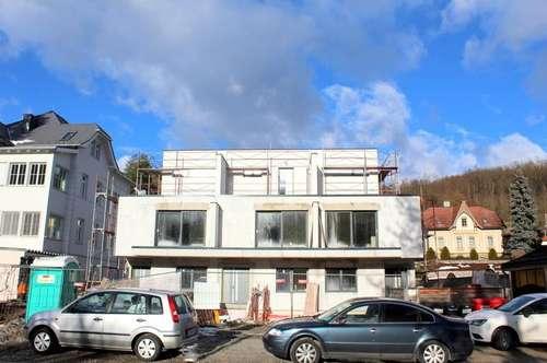 DESIGNER Reihenhaus mit 2,70 Meter Raumhöhe, Individuelle Fertigstellung möglich! !! Am Rande des Wienerwalds! Große Terrassenflächen, große Wohnküche mit offenem Kamin
