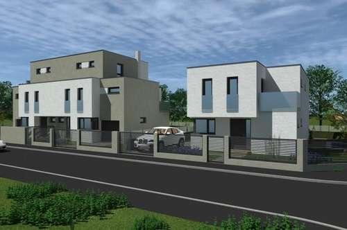 Leben am Riederberg- Einfamiliendoppelhaushälfte mit zwei Terrassen und Balkonen, eigenem Pool und Garage . Belagsfertig! Wald so weit das Auge reicht.