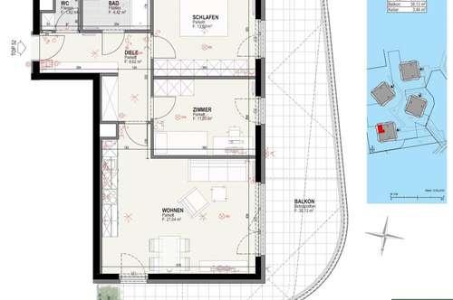 Wunderschöne 3-Zimmer Wohnung - Baujahr 2019 - Miete provisionsfrei - inkl. großer Rundterrasse