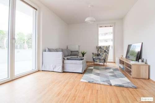 Provisionsfreie Erstbezugswohnung in der Green City - 40 m² Terrasse mit Blick über die Stadt - inklusive Küche!