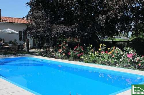 NEU- Pool und Fernblick- Ruhelage- Wunderschönes Wohnhaus, cooler Garten, Biotop