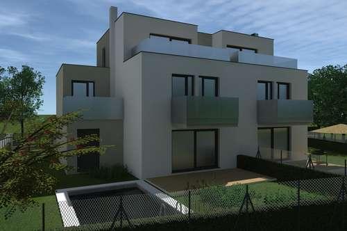 In Kürze Baubeginn! Belagsfertige Doppelhaushälfte am Riederberg! Inklusive Pool und Garage! Mitten im Grünen! Erstbezug!