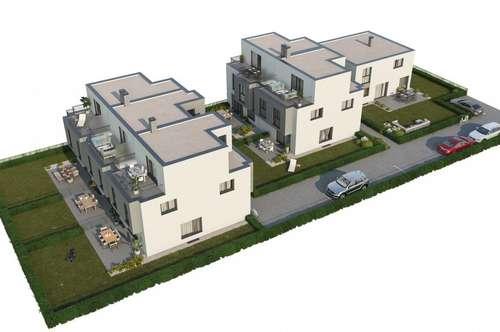 Nähe U2! PROVISIONSFREIER Erstbezug- Reihenmittelhaus mit Keller, Terrasse und Garten in absoluter Ruhelage! Grundrissänderung jederzeit möglich.