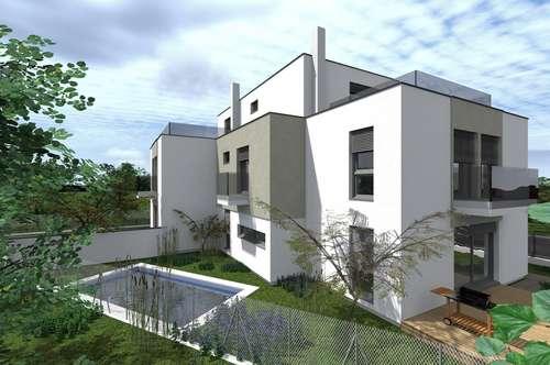 Doppelhaushälfte mit 162m² UND Keller, sowie Pool, Terrasse, Balkon und Stellplätze! Blick zum Schneeberg- In wenigen Minuten bei der U1- Oberlaa.!