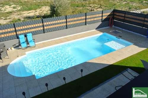 Designervilla mit Pool, Doppelgarage, Keller, Garten CO² neutrale Heizung