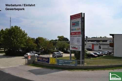 Ab 25 € Netto im Monat! 10m2 - 1500m2! Geschäft, Lager, Werkstatt, Büro! Gewerbepark Donnerskirchen!