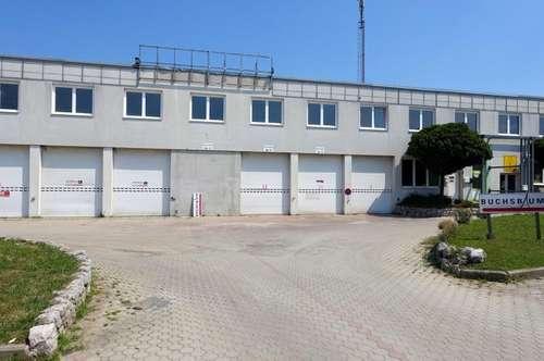 Lagerhalle / Werkstatt! 700m²! Rolltore! LKW-Rampe! ca. 10min bis Eisenstadt! Nassräume!