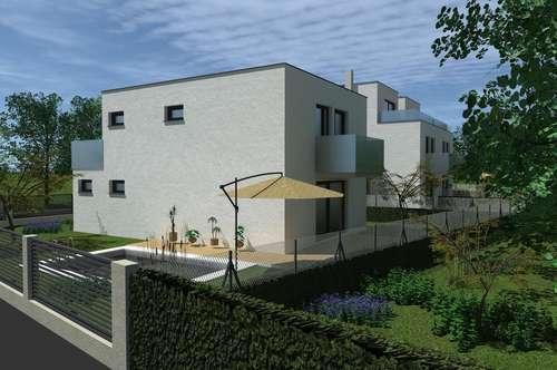 Mitten im Grünen! Erstbezug! In Kürze Baubeginn! Belagsfertige Doppelhaushälfte am Riederberg mit Pool & Garage!