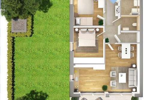 Top Eigentumswohnung mit 130m² Garten PROVISIONSFREI