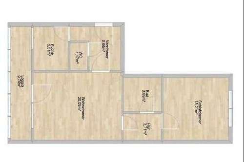 Zentral gelegene 2-Zimmer-Wohnung mit idealem Grundriss