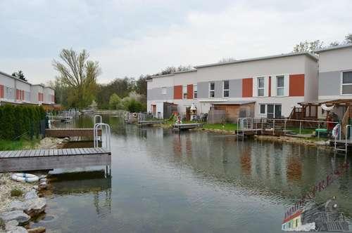 Sehr gut gelegene Doppelhaushälfte direkt am Badesee mit Wintergarten
