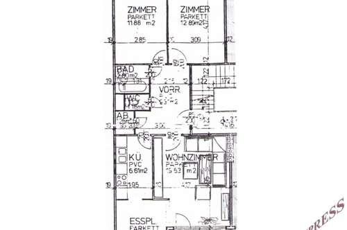 3 Zimmer Wohnung mit Parkplatz