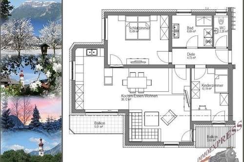 ERSTBEZUG: 3-Zimmerwohnung mit Garage am Ortsrand