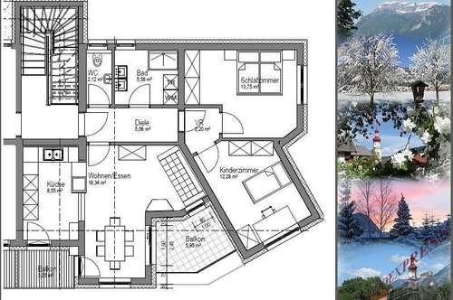 3-Zimmerwohnung mit Garage am Ortsrand - ERSTBEZUG