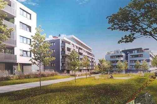 Neubau - Erstbezug - 3-Zimmer-Wohnung mit Garagenplatz - Nähe U1 Oberlaa !
