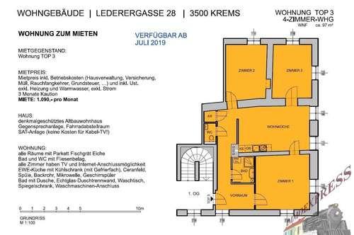 Mietwohnung in Krems Top 3