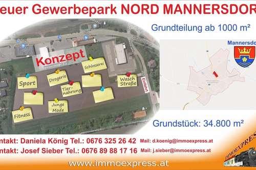 Ihr Betriebsstandort in Bestlage ! Stadtgemeinde Mannersdorf am Leithagebirge