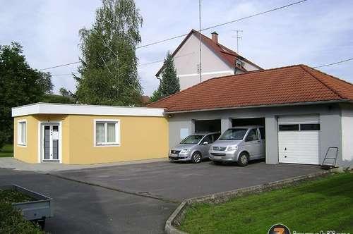 Nähe Güssing: Liegenschaft mit großer Garage/Werkstatt!