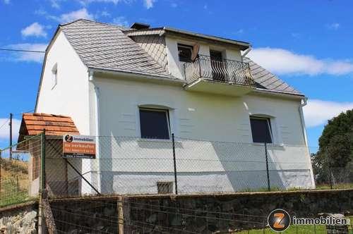 Nähe Oberwart: Teilsaniertes Haus in Aussichtslage!